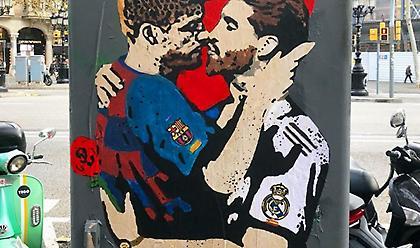 Πικέ - Ράμος: Το γκράφιτι φιλάθλου στην Βαρκελώνη που έγινε viral - Τι συμβολίζει