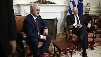 Δένδιας: Συμφωνήσαμε σε όλα με τον Χαφτάρ-Έτοιμοι να στείλουμε δυνάμεις στην Λιβύη