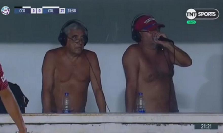 Ημίγυμνοι σπίκερ σε αγώνα ποδοσφαίρου στην Αργεντινή (video)