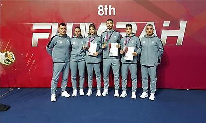 Σάρωσε τα μετάλλια η προΟλυμπιακή ομάδα ταεκβοντό στο διεθνές τουρνουά της Φουτζέιρα