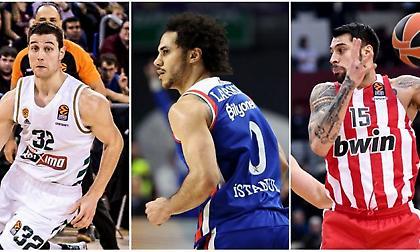 Ευρωλίγκα: Οι πιο αποτελεσματικοί παίκτες με Παναθηναϊκό & Ολυμπιακό! (photo)