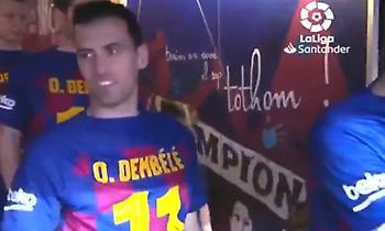 Μπαρτσελόνα: Δεν ξέχασαν τον Ντεμπελέ οι συμπαίκτες του (video)