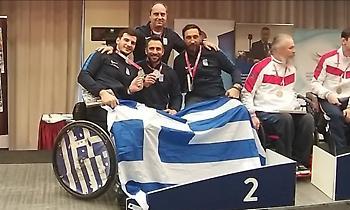 Ασημένιο μετάλλιο για το ομαδικό της σπάθης στο Παγκόσμιο Κύπελλο της Ουγγαρίας