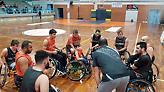 Αγώνας επίδειξης μπάσκετ με καρότσι στο ημίχρονο του Ελλάδα-Βουλγαρία
