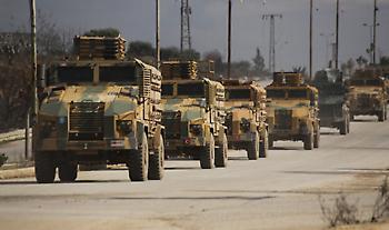 Κομβόι με 50 τουρκικά τεθωρακισμένα μπήκαν στην Ιντλίμπ