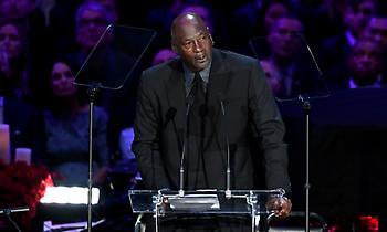 Έκλαψε στην ομιλία του για τον Κόμπι ο Τζόρνταν (video)
