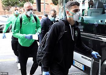 Με μάσκες έφτασε στο Μιλάνο η Λουντογκόρετς για τη ρεβάνς με Ίντερ (pics)