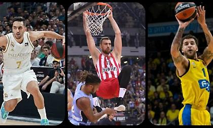 Ευρωλίγκα: Η δεύτερη καλύτερη πεντάδα της φετινής σεζόν! (πίνακας & video)