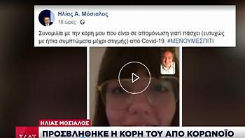 Ηλίας Μόσιαλος: Προσβλήθηκε η κόρη του από κορωνοϊό
