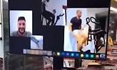 Ο Μουρίνιο προπονεί μέσω Skype: «Παίξτε με τον τοίχο, βγείτε στον κήπο» (video)