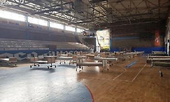 Κλειστό γήπεδο έγινε μονάδα καραντίνας στη Βοσνία (pic)