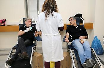 Ξεπέρασε κάθε προσδοκία η εθελοντική αιμοδοσία στη Ν.Φιλαδέλφεια με τη στήριξη της ΑΕΚ