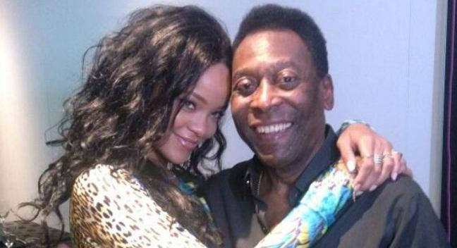 Ο Πελέ συνάντησε τη Rihanna (pics)