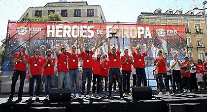 Αποθεώθηκαν στη Μαδρίτη οι πρωταθλητές Ευρώπης (pics/video)