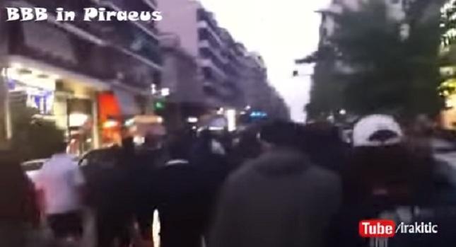 Βίντεο με αρματωμένους οπαδούς της Ντιναμό στον Πειραιά