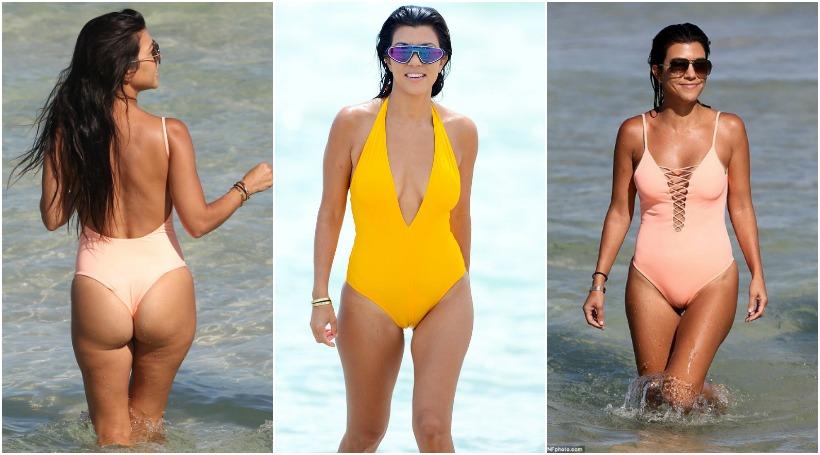 Η Kourtney Kardashian σκύβει και μας τα δείχνει ΟΛΑ (pics)