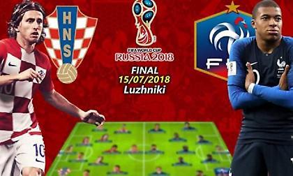 Βγήκαν οι αποδόσεις για το Γαλλία - Κροατία. Ποιος είναι φαβορί;