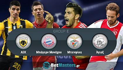 Champions League: Βγήκαν οι αποδόσεις για τα πρώτα τρία μας της ΑΕΚ