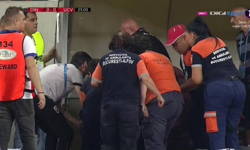 Κατέρρευσε μέσα στο γήπεδο ο προπονητής της Ντ. Βουκουρεστίου!