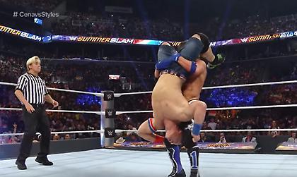 Ολόκληρος ο αγώνας του AJ Styles με τον John Cena στο Summerslam
