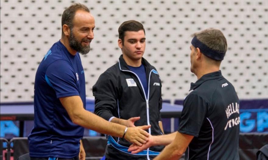 Η αποστολή των Εθνικών ομάδων πινγκ πονγκ για το Ευρωπαϊκό Πρωτάθλημα ομαδικού
