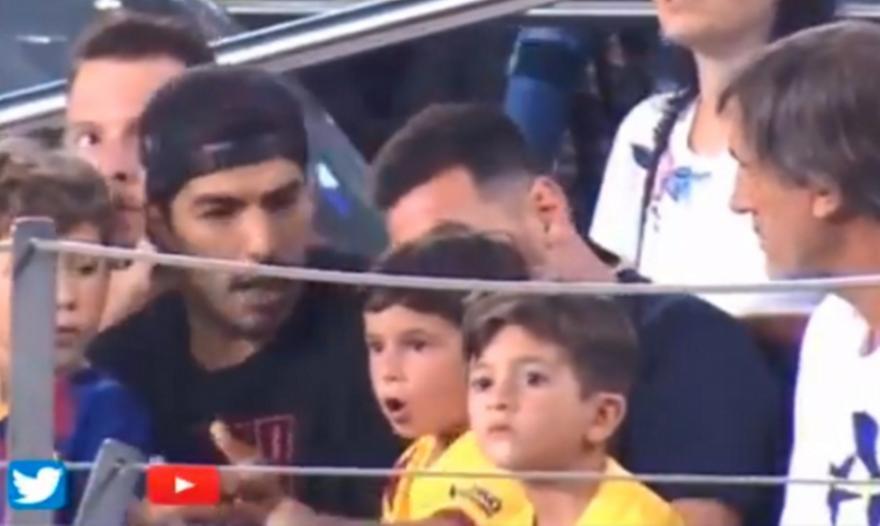 Ο γιος του Μέσι πανηγύρισε το γκολ της Μπέτις και ο Σουάρες τρελάθηκε (video)