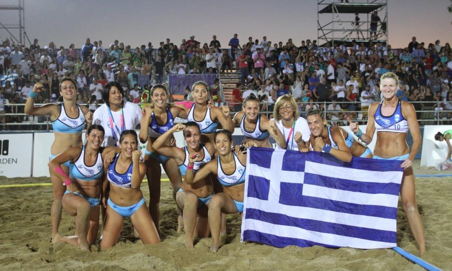 Beach Handball: Τα χρυσά κορίτσια της Ελλάδας
