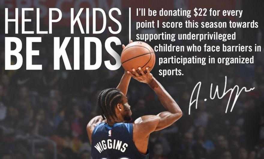 Ο Γουίγκινς θα προσφέρει σε παιδιά 22 δολάρια για κάθε πόντο του