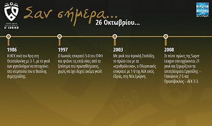 60 χρόνια Α' Εθνική: Σαν σήμερα, 26 Οκτωβρίου