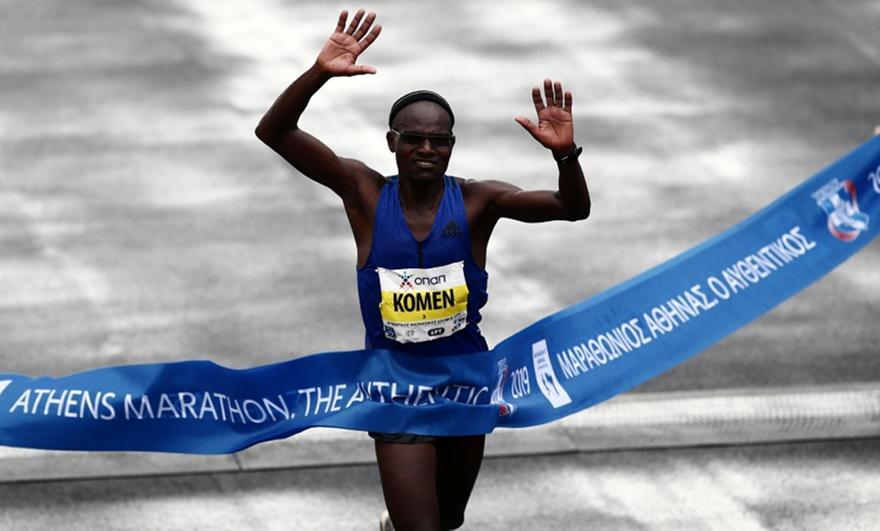 37ος Μαραθώνιος της Αθήνας: Νικητής ο 42χρονος Κενυάτης, Κόμεν, στην 3η θέση ο Κώστας Γκελαούζος