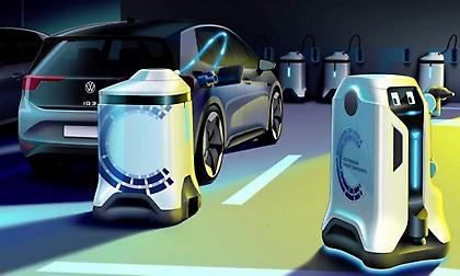 Αυτόνομα ρομπότ φόρτισης ηλεκτρικών αυτοκινήτων από τη Volkswagen