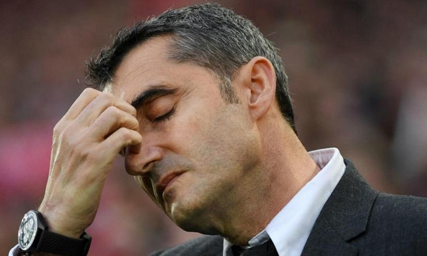 Δάκρυσε ο Βαλβέρδε στο «αντίο» του στους παίκτες της Μπαρτσελόνα