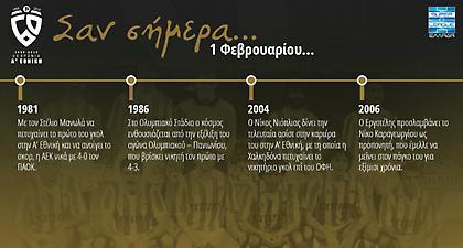 60 χρόνια Α' Εθνική: Σαν σήμερα, 1 Φεβρουαρίου