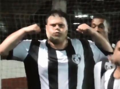 Απίθανο γκολ με γυριστό από ευτραφή κύριο (video)