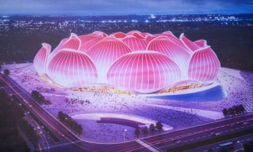 Το φανταστικό νέο γήπεδο της Γκουανγκζού σε σχήμα… λουλουδιού! (video)
