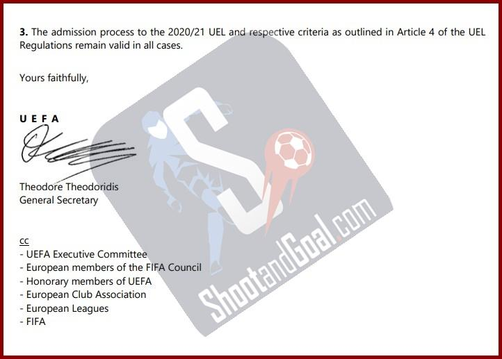 UEFA: «Από το πρωτάθλημα η ευρωπαϊκή θέση που χάνεται στο Κύπελλο»