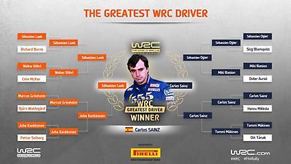 Ψηφίστηκε κορυφαίος οδηγός όλων των εποχών στο WRC ο Κάρλος Σάινθ