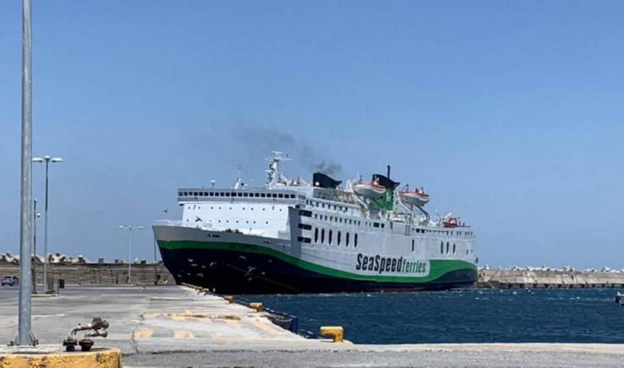 Στο λιμάνι του Ρεθύμνου προσέκρουσε το επιβατηγό πλοίο OLYMPUS (vid)