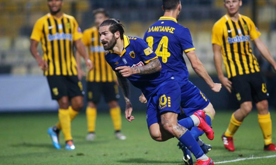 Τα 'φερε όλα τούμπα η ΑΕΚ: Ξαναχτύπησε στην παράταση για το 2-2 ο Λιβάγια!