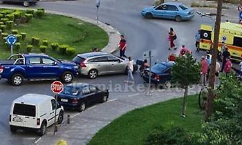 Λαμία: Τροχαίο με μηχανάκι σε κυκλικό κόμβο