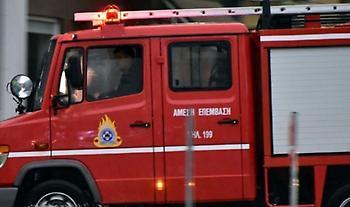 Φωτιά σε οικόπεδο στο Χαλάνδρι
