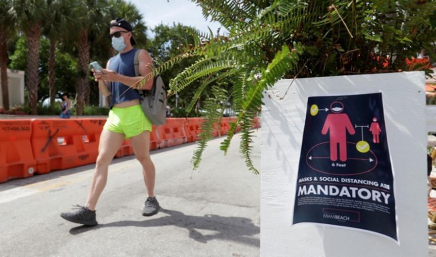 Ρεκόρ αύξησης κρουσμάτων στη Φλόριντα: Σχεδόν 11.500 σε μία ημέρα