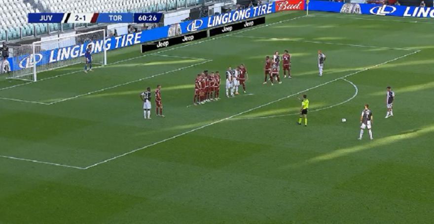Σκόραρε με φάουλ μετά από 81 ματς με την Γιουβέντους ο Κριστιάνο! (video)