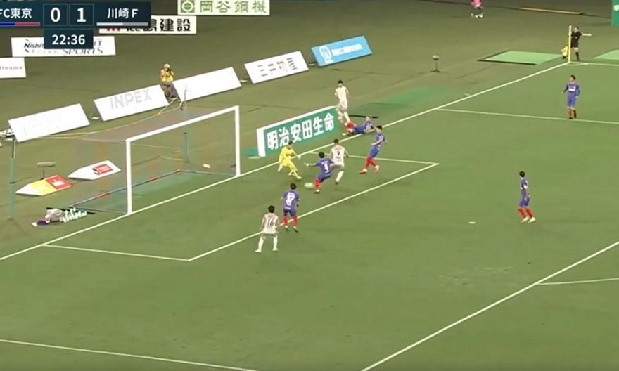 Απίθανο γκολ με τακουνάκι στην Ιαπωνία (video)
