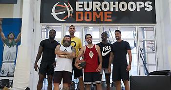 """Μιλουτίνοφ, Άλεξ Αντετοκούνμπο, Μπέντιλ, Αθηναίου &… """"Ελσίνκι"""" έπαιξαν μπάσκετ στο Eurohoops Dome"""
