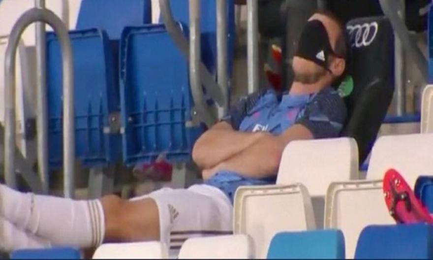 Ο Μπέιλ αποκοιμήθηκε στον πάγκο στο χθεσινό ματς της Ρεάλ!