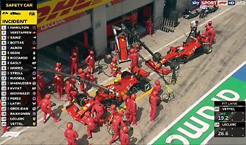 «Τραγωδία» για Ferrari: Ο Λεκλέρκ χτύπησε τον Φέτελ και αποσύρθηκαν (video)