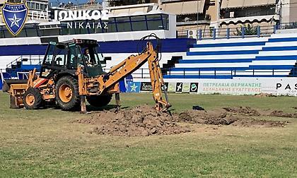 Ιωνικός: Νέος υβριδικός χλοοτάπητας  στο γήπεδο της Νεάπολης
