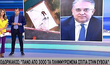 Θεοδωρικάκος σε ΣΚΑΪ: Πάνω από 3.000 σπίτια έχουν πλημμυρίσει στην Εύβοια