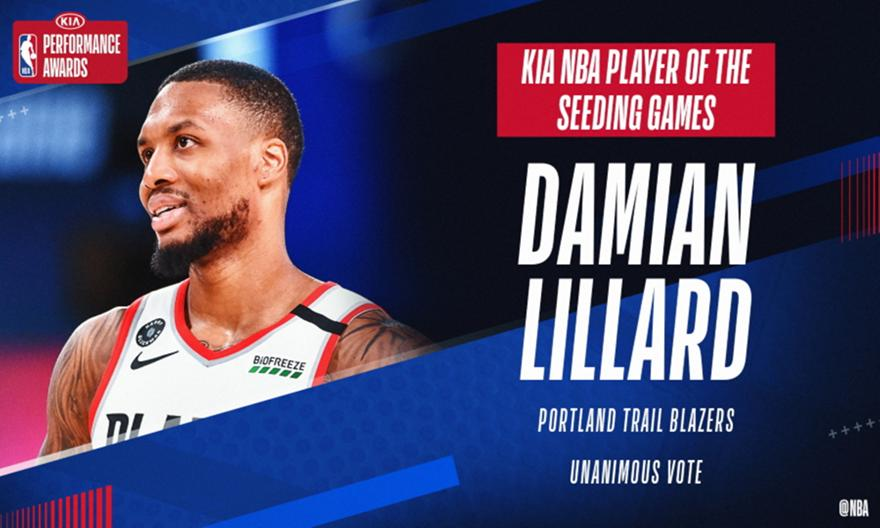 MVP της «φούσκας» ο Λίλαρντ – Καλύτερος προπονητής ο Μόντι Γουίλιαμς